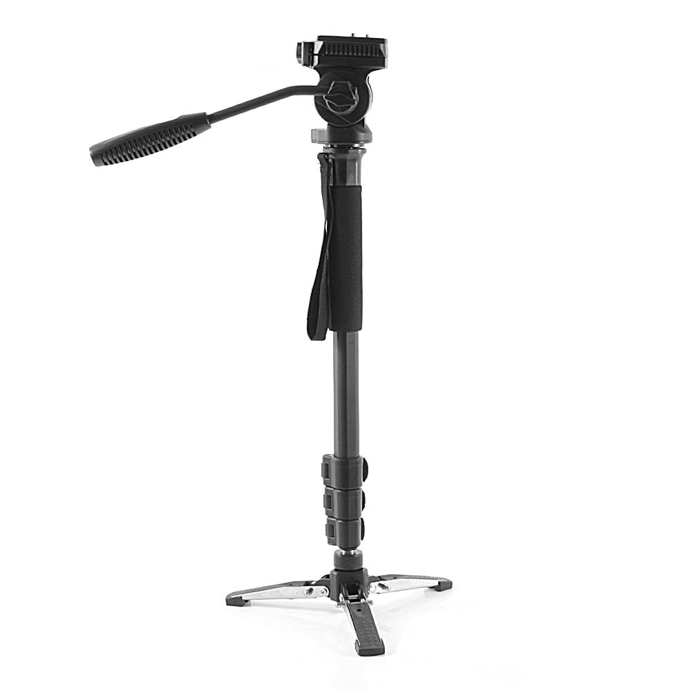 Professional Tripod Monopod w/ Fluid Panoramic Head Case Camera Stand for DSLR Camera Camcorder and phones Travel Aluminum diat a193l aluminum heavy duty fluid head camera tripod for camcorder dslr stand professional video tripod