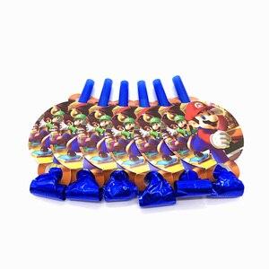 Image 5 - מריו Bros מסיבת שולחן חד פעמי חד פעמי סט נייר צלחת מפית כוס הזמנה כרטיס סופר מריו ספקי צד 83 יח\חבילה