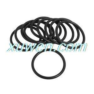 sourcingmap 20pcs Black Nitrile Butadiene Rubber NBR O-Ring 2.6mm Inner Dia 1.9mm Width