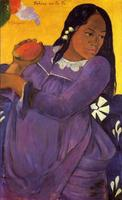 High quality Oil painting Canvas Reproductions Woman with a Mango (1892) by Paul Gauguin hand painted