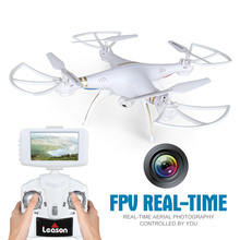 Profession Drones with Camera 2.4GHZ 4CH 6-axis Real Time RC Helicopter Quad copter with Wifi Camera and FPV LCD Screen Kid Gift