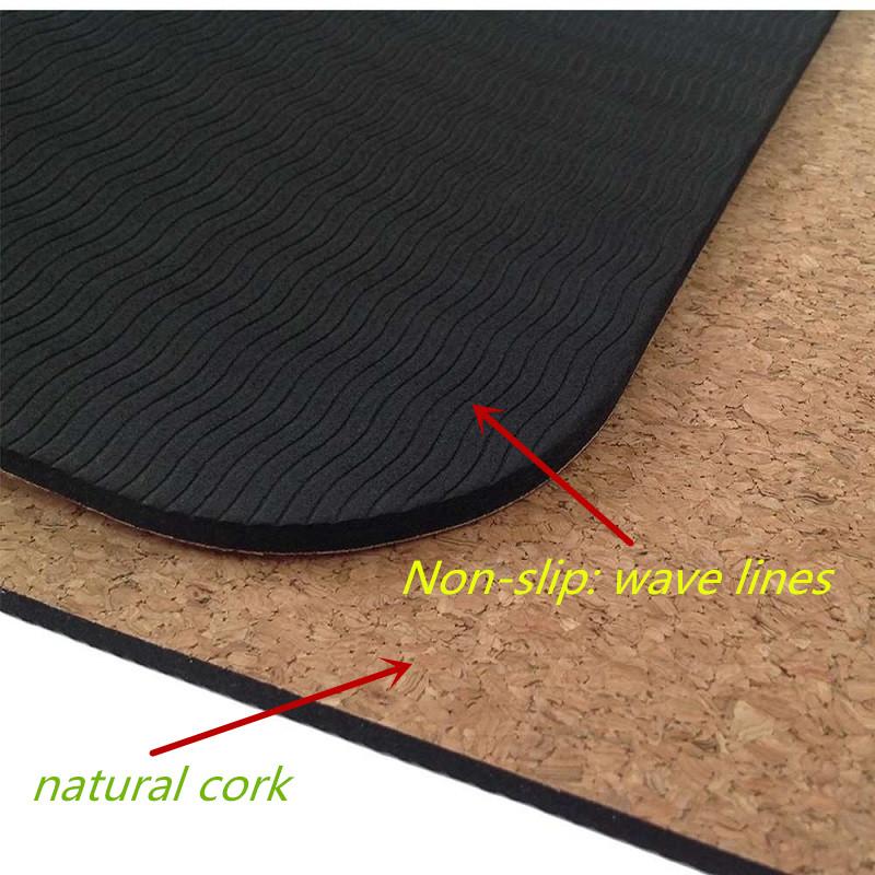 Tapis de yoga en liège et TPE, détails techniques
