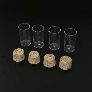 Image 4 - 100 pz/lotto 24x45 millimetri della Parte Inferiore Piana di Plastica Fiale di Drosophila tubo di cultura, provette di plastica Con Grado Alimentare Tappi di Sughero