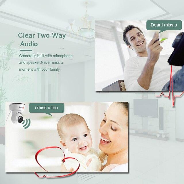 BESDER 1080P 720P Home Security IP Camera Two Way Audio Wireless Mini Camera Night Vision CCTV WiFi Camera Baby Monitor iCsee 4