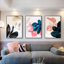 Artistic life Nordic Style Poster Flower Leaf Cavans Painting Modern Home Decor Wall Art Pictures For Living Room  Posters And