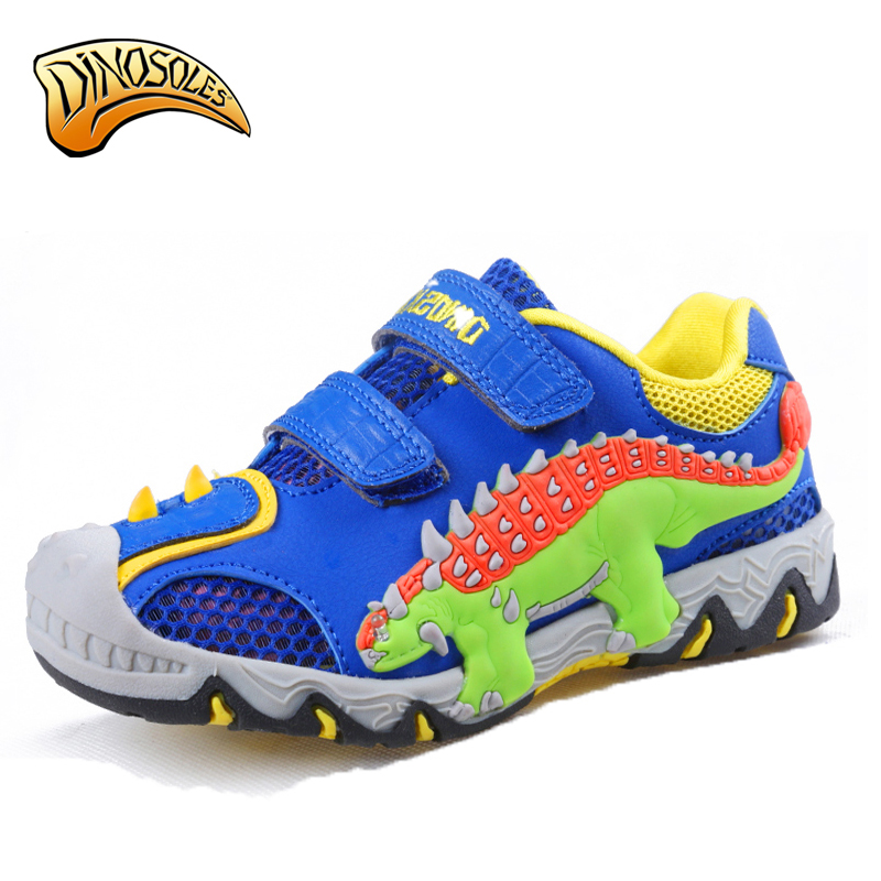 Dinoskulls Children Sport Shoes Boy Shoes Spring Summer Casual Shoes Breathable Air Mesh Fashion Kids Sneakers 3D Dinosaur Shoes hengfang 52135 princess style water resistant eyeliner gel w brush black