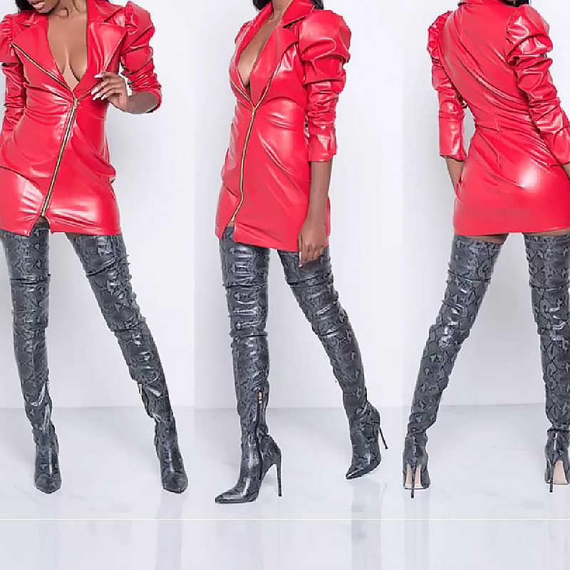Prova perfetto ต้นขาสูงกว่าเข่ารองเท้าผู้หญิงรองเท้า Snakeskin ชี้ Toe Super บางสูงรองเท้าส้นสูงรองเท้าส้นสูง Bottine femme
