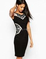 Piękne moda haft kobiety płaszcza suknia patchwork bez rękawów sukienek 1522 trzy kolor opcjonalne