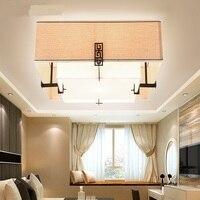 Новый китайский двуспальная кровать квадратный потолочный светильник Спальня современный Гостиная LED Ресторан обучения Легкая классическ