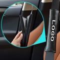2 ШТ. Автомобилей Стайлинг Авто Углеродного Волокна Ремень безопасности Обложка Плеча Pad Подходит для Ford Mondeo MK3 MK4 Mustang Kuga Fusion Фокус 3 2