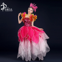 China Supplier Wholesale Open Hot Sexy Girl Photo Can Can Dance Costume Stage Clothing Accessories