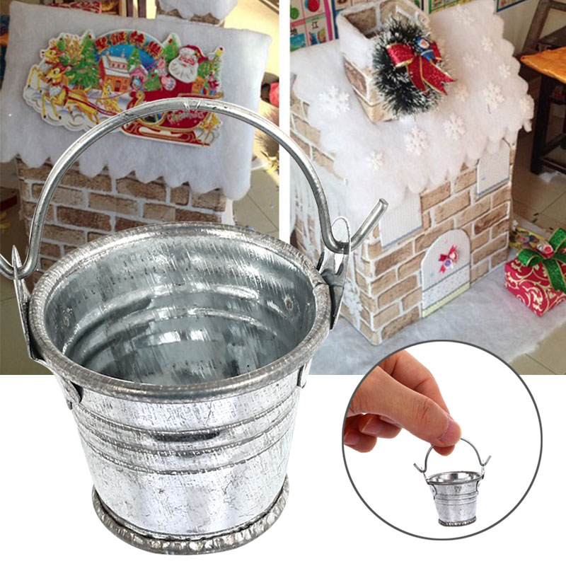 Мини кукольный домик корзина для мусора милые металлические ведра украшения для кукольного домика Миниатюрная игрушка кукла еда кухня гостиная аксессуары