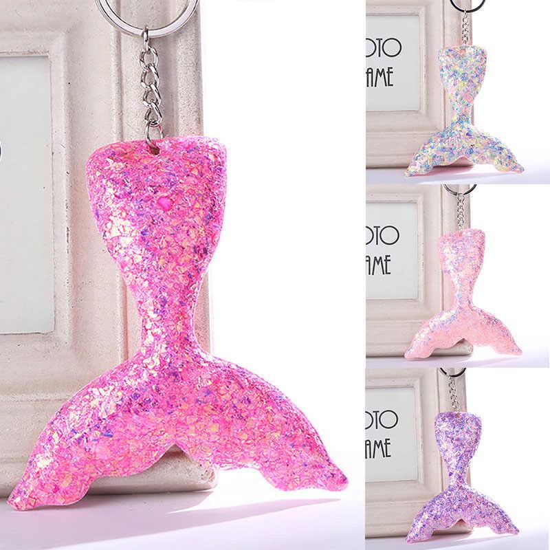 Брелок для ключей «русалка» пайетки брелоки кулоны для Для женщин сумки автомобиль кнопочный телефон Аксессуары