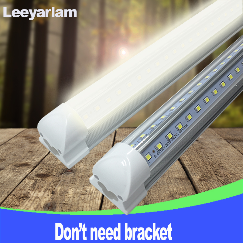 A+ LED T8 Integrated Tube Bulb 20w 60cm 110v 220v 85-265v Chip Kitchen Light Lamp Clear Cover Double 2835 Free Shipping 2ft 4 pack free shipping t5 integrated led tube 4ft 20w milky transparent cover surface mounted bulb comes with accessory 85 277v