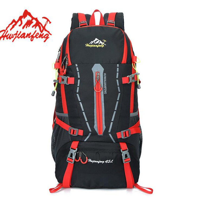 45L Outdoor Travel Luggage Bag font b Backpack b font Canvas Mountain Hiking Camping font b
