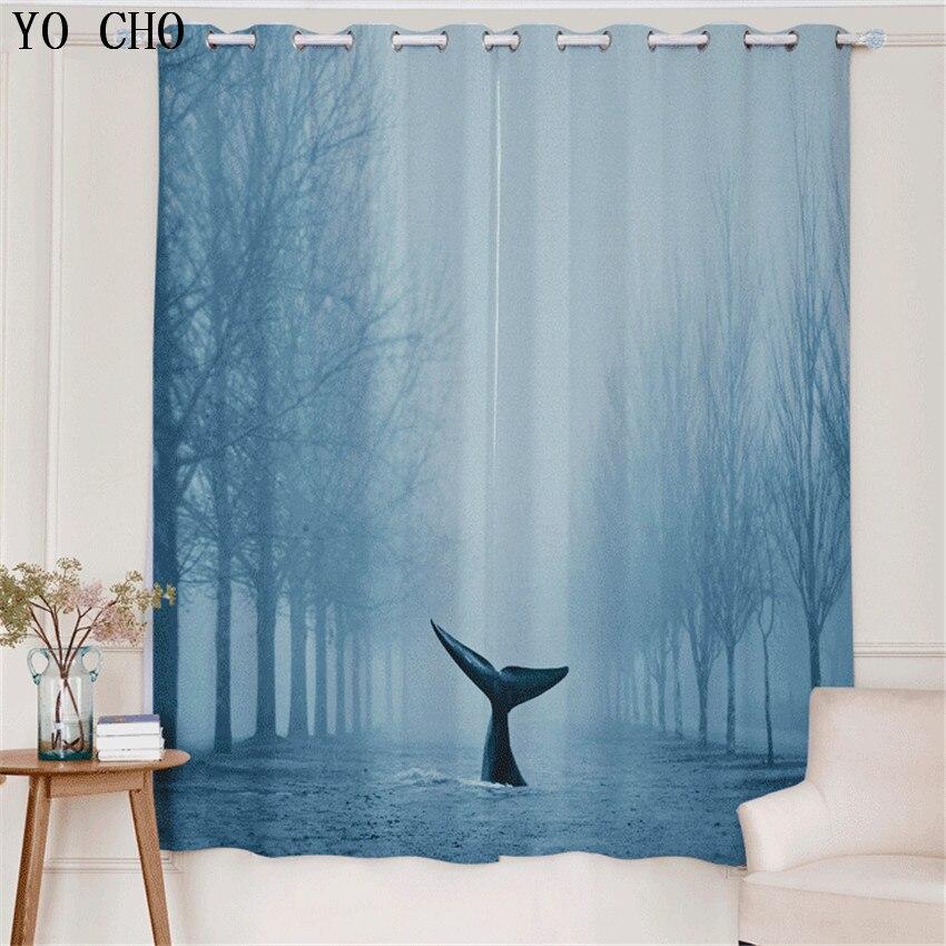 yo cho nuevo estilo moderno d sea fish moda cortinas para el dormitorio sala de estar