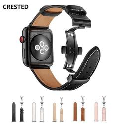 Hakiki Deri Kayış Için Apple saat bandı 4 44mm 40mm Iwatch 3 bant 42mm correa Apple İzle 38mm bilezik Bilek Kordonlu Saat 2 1