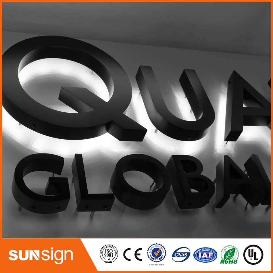 BackLit Acrylic Shop Signs Storefront Sign Led Backlit Channel Letter