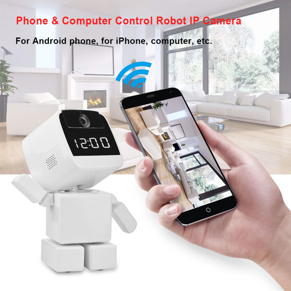 960p HD Full Vision Robot Wifi IP Camera 2-Way Audio Phone Computer Control Wireless Robot Security Camera Night Vision US Plug howell wireless security hd 960p wifi ip camera p2p pan tilt motion detection video baby monitor 2 way audio and ir night vision