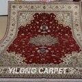 Yilong 9 'x 12' Восточная большая площадь шерстяной ковер ручной работы изысканный турецкий шерстяной ковер для продажи (1367)