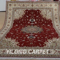 Yilong 9'x12' Oriental large area wool rug handmade exquisite turkish wool carpet for sale (1367)