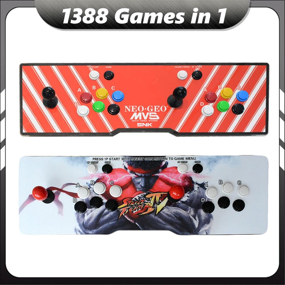 Arcade Console Pandora 6 s 1388 in 1 Multi Gioco Macchina Retro TV Video Gaming Scatola Lettore 2 Joystick & pulsante USB di Uscita VGA