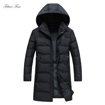 Männer Parka Dicke Warme Winter Mann Herbst Lange Jacken und Mäntel Mit Kapuze Stehkragen Plus Größe 4xl 2018 Mode Dünne outwear C1584