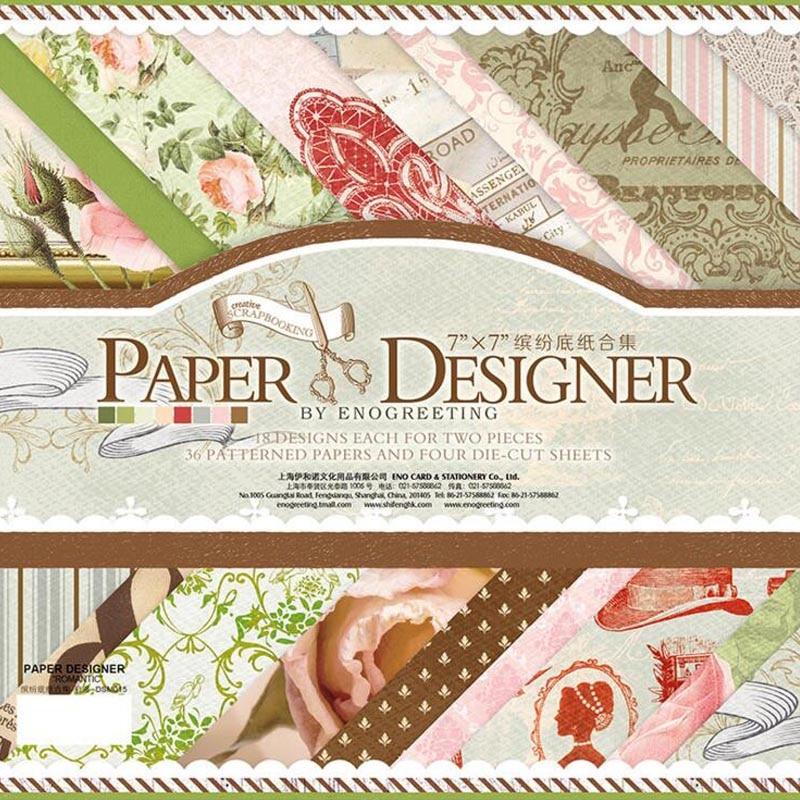 Купить с кэшбэком 36 Printed Pattern Paper + 4 Sheets Sticker Diy Vintage Background Decorative Scrapbooking Craft Paper Embellishment Photo Album