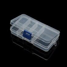 LOULEUR boîte à outils pour bijoux en plastique, 7 cases (réglables), boîte d'emballage pour mallette de rangement perles artisanales bijoux à bricoler soi-même