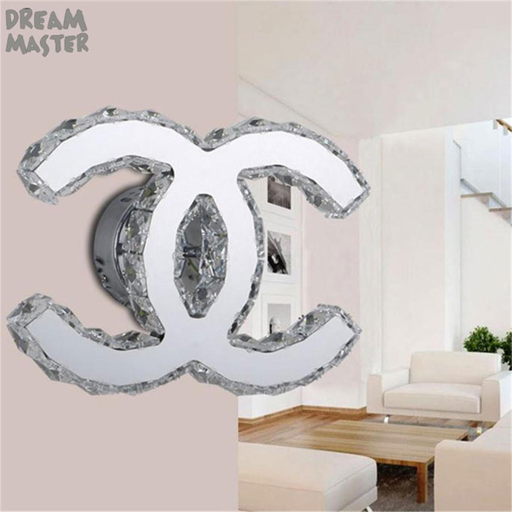 LED Indoor Wall Light Surface Mount 18W Bedside Lamps Modern crystal LED Sconce Lighting For Living Bed Room LED Wall Luminaria 3 narrow beam indoor wall effect light led architectural facade lighting 3 emission led wall sconce ac90 260v input decoration