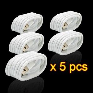 Image 4 - 5 Cái/lốc Màu Trắng EU Cắm Tường AC Sạc USB Cho iPhone 8 Pin Sạc + Adapter Sạc Cho apple iPhone 7 6 6S 5S 5