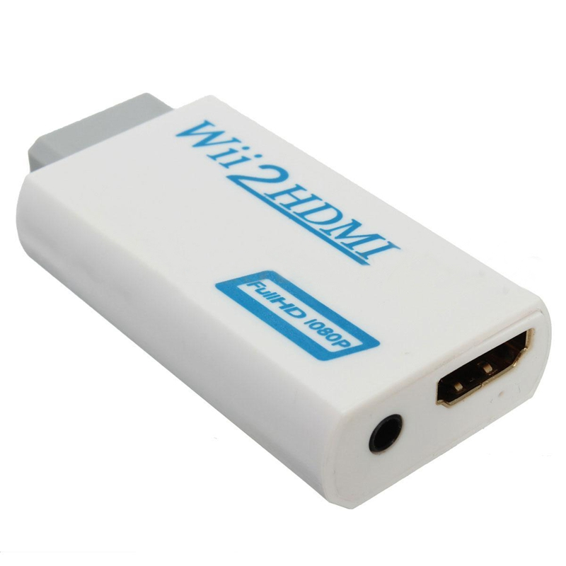 to HDMI Wii2HDMI Full HD FHD 1080P Converter Adapter 3 5mm Audio Output Jack in HDMI Cables from Consumer Electronics