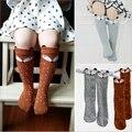 2016 Recém-nascidos bebe Menina Da Criança na altura do joelho alta meias Bebê Menino Meias de algodão Bonito Dos Desenhos Animados de Animais recém-nascidos polainas Gato raposa infantil