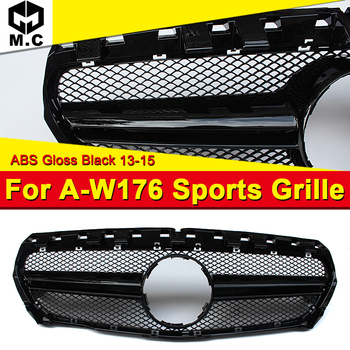 Fits For MercedesMB W176 AEAMG Style grille grill Sport  look A-Class A180 A200 A250 A260 Front bumper grille ABS Black 2013-15