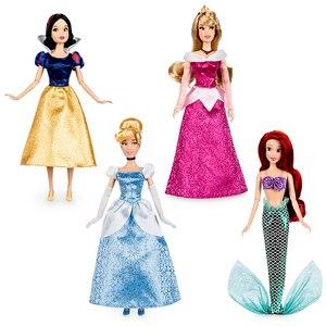 Image 2 - Negozio genuino Disney Rapunzel Jasmine Principessa Bambola mulan Ariel Belle giocattoli Per i bambini regalo di Natale