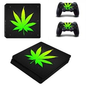 Image 5 - Adesivo de decalque para playstation 4 slim, adesivo branco puro e verde para controles de playstation 4 slim adesivo da pele