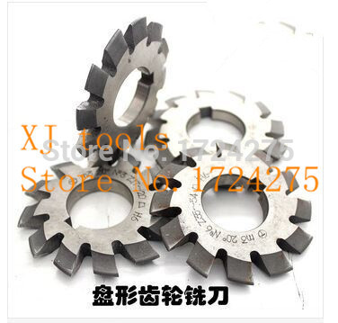 High quality HSS gear Milling cutter modulus M4 1 8# 8pieces of a set of Pressure Angle of 20 degrees free shipping-in Milling Cutter from Tools    1