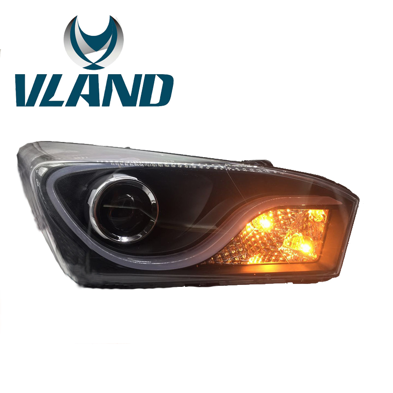 Vland usine voiture accessoires lampe frontale pour Hyundai HB20 2013-2016 LED phare avec DRL Plug And Play