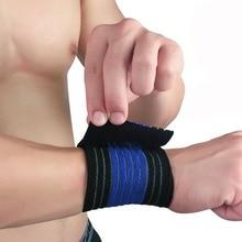 1 шт. регулируемый спортивный хлопковый эластичный бандаж для рук тренажерный спортивный браслет поддержка запястья бандаж фитнес тренировка Безопасность Защита