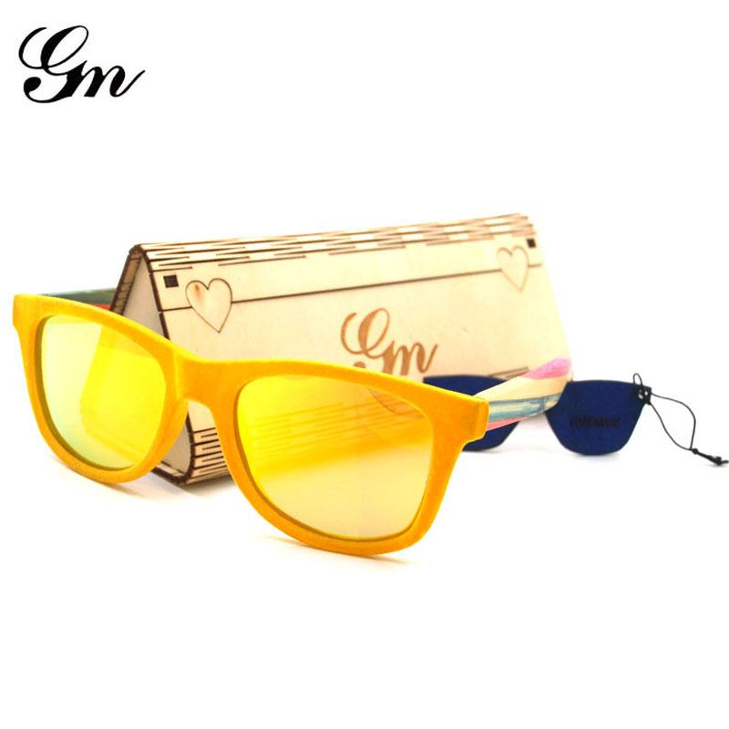 G M 2018, New Process Bamboo And Wood Sunglasses, Suitable For Tourist Holidays, Colored Wooden Glasses