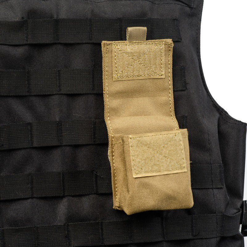 Image 2 - Outdoor Airsoft Combat Military Moole Pouch Tactical Single Pistol Magazine Pouch Flashlight Sheath Airsoft Hunting Camo Bags-in Pouches from Sports & Entertainment