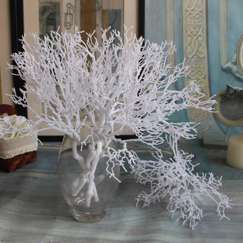 de plstico artificial secas ramas de coral planta simulacin flor casa decoracin de la boda