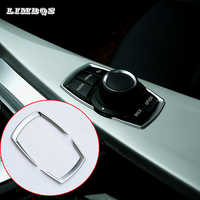 Car iDrive Interior Multimedia Button Cover For BMW X1 X3 X5 X6 F30 E90 E92 F10 F18 F11 F07 GT Z4 F15 F16 F25 F34 E84 styling