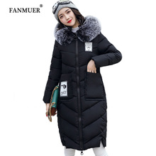 2017 Winter coat women Women Clothing Solid Jacket Winter Female 2017 China Stylish Long Parka Coats Warm Women jackets(China)