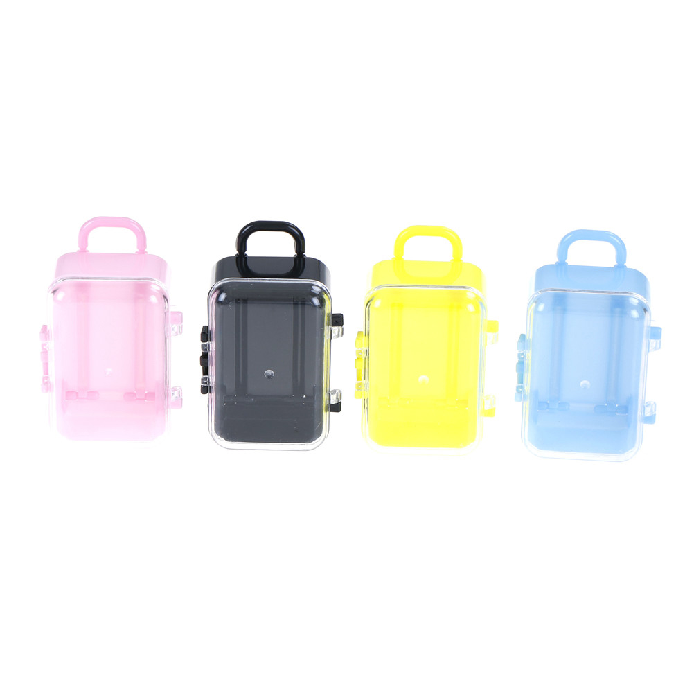 Mini Suitcase Shape Rolling Travel Gift Box Favor Box Wedding Favors Party Reception Cases Candy Package Baby Shower Candy Boxes