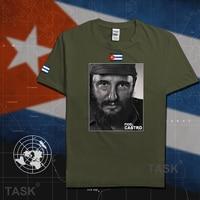 Fidel Castro President Of Cuba Short Sleeve Casual Mens T Shirt Tee Souvenir T Shirt 100