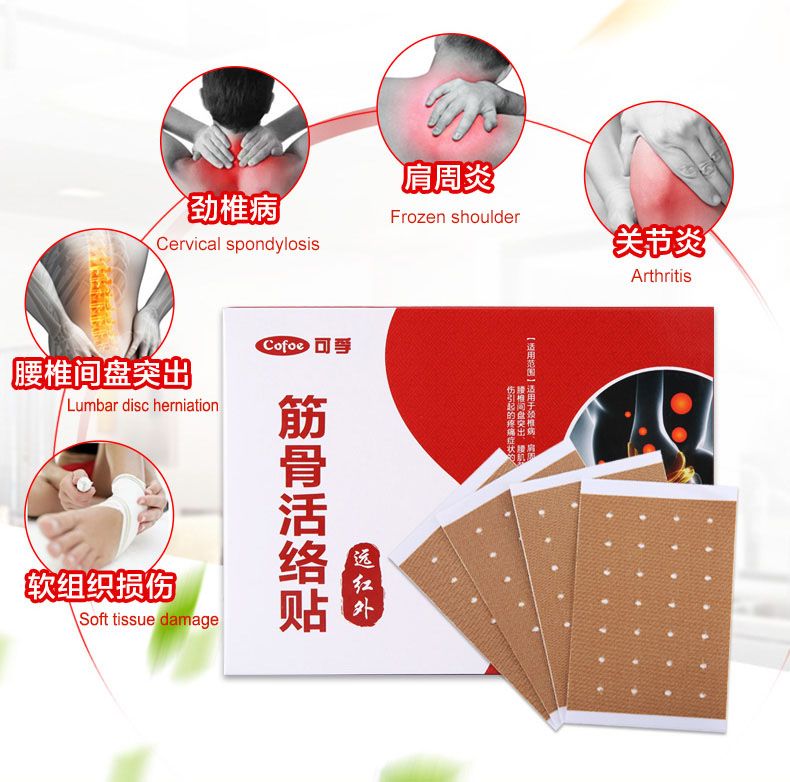 Cofoe Pain Relief orthopedic Plaster, Muscle Aches Pain Relieving Patche's for Aches of muscles & joints 8 Pack/box 7cm*10cm 3