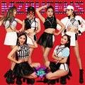 Coreano Estilo Da Equipe de Dança Vestindo Mini Saia Meninas Desgaste Estágio Desempenho Bonito Boate Mostram Traje Sexy Cantora Roupas