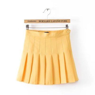 Multi färg japanska hög midja veckade kjolar JK student Tjejer solid pläterad kjol Söt Cosplay skoluniform kjol