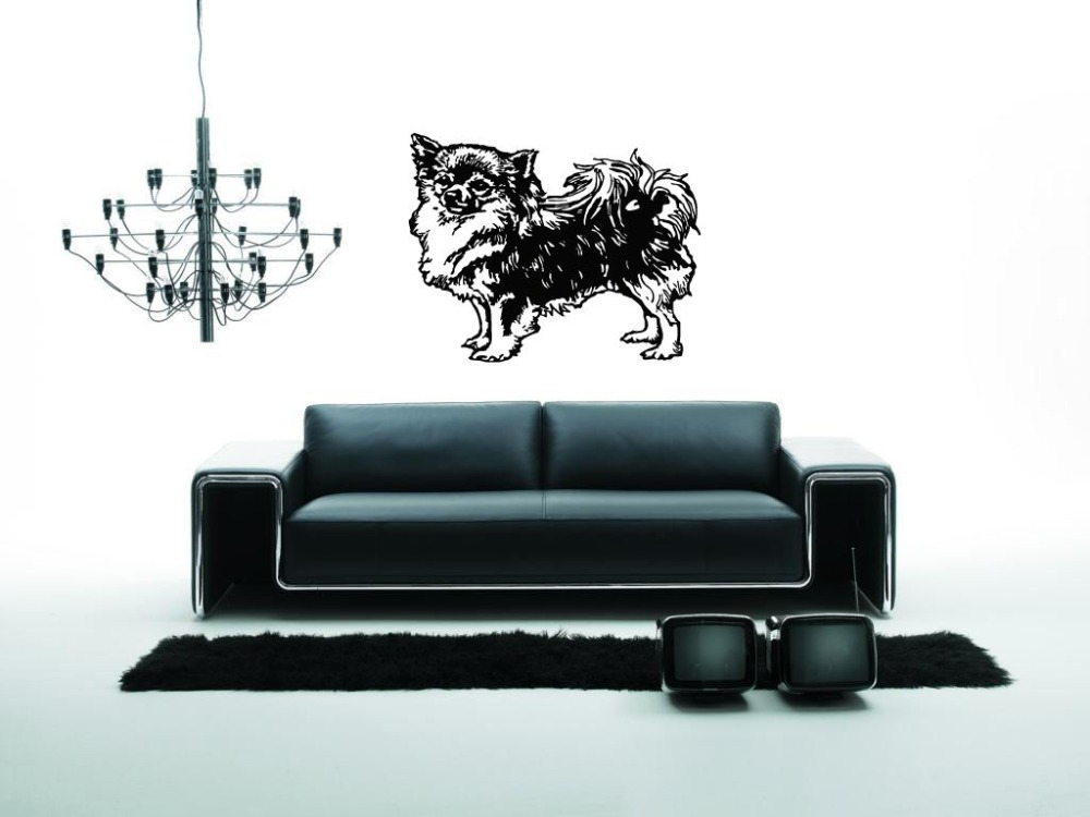 Chihuahua Dog Puppy Breed Pet Animal Family Wall Sticker Decal Mural image